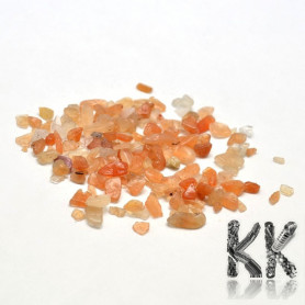 Natural red aventurine - fragments - not drilled - 2 - 8 x 2 - 4 mm (decorative crumb) weight 1 g (approx. From 16 to 25 pcs)
