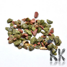 Natural unakit - fragments - not drilled - 2 - 8 x 2 - 4 mm (decorative crumb) weight 1 g (approx. From 16 to 25 pcs)