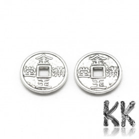Chinese coin pendant for good luck - Ø 10 x 1.5 mm