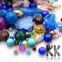 Mix of glass of beads of different shapes, colors and sizes. The beads can have the dimensions 4 -22.5 x 4-28.5 x 3-9 mm and holes for the thread 1-2 mm. In the mix you can find beads pressed and faceted, transparent and frosted, shiny and matte and small and large. The beads are offered in a package of a random mix of 200 grams and the color and shape composition in the illustrative image is thus purely indicative. THE PRICE IS FOR 200 g