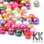 Glass waxed round beads with a diameter of 8 mm with a hole for a thread with a diameter of 1 mm. The wax colors of the beads are baked on their surface for maximum resistance to aggressive chemicals. The beads are sold in a random mix of colors weighing 25 g, which represents about 38 pieces. THE PRICE IS FOR 25 g (approx. 38 pcs)