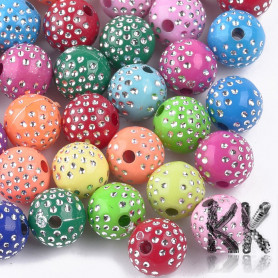Acrylic beads - opaque plated balls - Ø 8 mm - quantity 10 g (approx. 35 pcs)