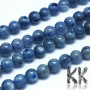 Tumbled round beads made of kyanite mineral with a diameter of 6 mm with a hole for a thread with a diameter of 1 mm. The beads are completely natural without any dye. Country of origin Switzerland, India, Brazil THE PRICE IS FOR 1 PCS.