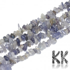 Natural iolite - fractions -5-11 x 3- 9 x 1-9 mm - weight 1 g (approx. 2 cm)