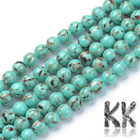 Synthetic turquoise with mother-of-pearl - Ø 8 mm - colored balls