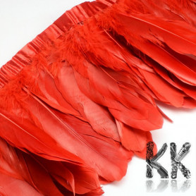 Colored goose feathers - 100-180 x 38-62mm - price for 1 cm of sewn feathers (1-2 pcs)