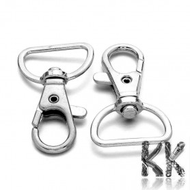 Key carabiner with swivel pin made of zinc alloy - 38 x 24 mm