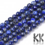 Tumbled faceted round beads made of mineral lapis lazuli with a diameter of 4 mm with a hole for a thread with a diameter of 0.5 mm. The beads are absolutely natural without any dye. Country of origin Afghanistan THE PRICE IS FOR 1 PCS.