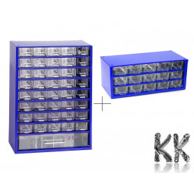 Set of metal organizers with 41 + 15 drawers - 155 x 306 x 442 mm + 155 x 306 x 147 mm