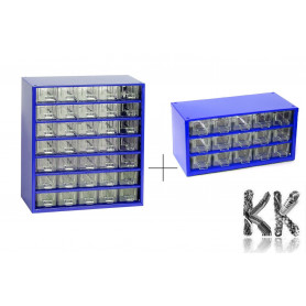 Set of metal organizers with 35 + 15 drawers - 155 x 306 x 327 mm + 155 x 306 x 147 mm