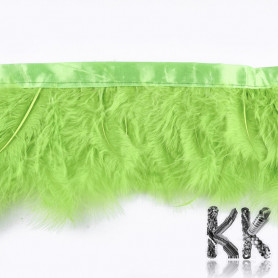 Colored turkey feathers - 120-180 mm - price for 1 cm of sewn feathers (1-2 pcs)