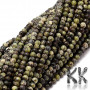 Tumbled round beads made of natural mineral serpentine with a diameter of 2 mm and a hole for a thread with a diameter of 0.5 mm. The beads are absolutely natural without any dye. Country of origin China THE PRICE IS FOR 1 PCS.