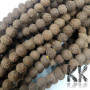 The beads are made of the fruits or wood of the rare and sacred ficus religiosa, under which the Buddha attained enlightenment. The beads have a diameter of 8 mm and a hole for a thread with a diameter of 2-2.5 mm. The beads are completely natural, without any dye. Country of origin: Nepal THE PRICE IS FOR 1 PCS.