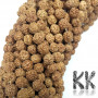 Beads made of rudraksha tree nuts with a diameter of 8 mm and a hole for a thread with a diameter of 0.5-1 mm. These are called 5 mukhi rudraksha beads. The come from India and may differ by up to 0.8 mm from the stated size due to manual sorting. The beads are absolutely natural without any dye. Country of origin: India THE PRICE IS FOR 1 PCS.