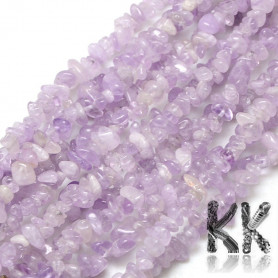 Natural amethyst fractions - 6 - 10 x 4 - 6 x 3 - 5 mm - weight 1 g