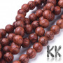 Beads from a real dracena tree, also known as a dragon tree, with a diameter of 8 mm and a hole for a thread with a diameter of 1 mm. The beads are absolutely natural, without any dye and have their typical scent.  Country of origin Indonesia THE PRICE IS FOR 1 pc.