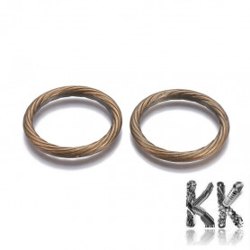 Plastic rings with CCB plating for dream catchers - Ø 49 - 50 x 5 - 5.5 mm