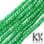 Tumbled and faceted round beads made of synthetic emerald with a diameter of 2 mm with a hole for a thread with a diameter of 0.5 mm. The beads have a beautifully rich color typical of emeralds. Country of origin: China THE PRICE IS FOR 1 PCS.