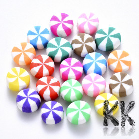 Polymer product - candy - random mix of colors - Ø 9 - 11 x 4.5 - 6 mm