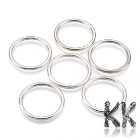 Plastic rings with CCB plating for dream catchers - Ø 56.5 x 5 mm