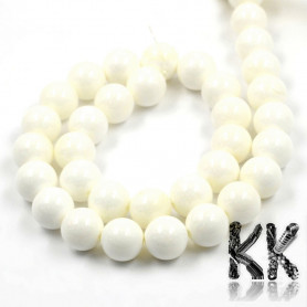 Natural shell pearls from a huge yawn - ball - Ø 6 mm
