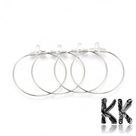 304 stainless steel creole - 40 x 37 x 1.5 mm - price for 1 pair
