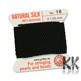 GRIFFIN silk cord with needle - thickness 1.05 mm - roll 2 m