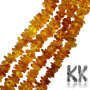 Chips of natural Baltic amber with dimensions 1-5 x 3-11 x 7-15 mm and with a hole for a thread with a diameter of 1 mm. The beads were tested by the Lithuanian Gemological Institute (a laboratory for testing precious stones and minerals) and obtained a certificate of authenticity. The beads are absolutely natural without any dye. COUNTRY OF ORIGIN: LITHUANIA THE PRICE IS FOR 1 pc.