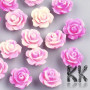 Tumbled beads in the shape of rose made of synthetic coral in many colored designs measuring 10 x 10 x 6 mm and with a hole for a thread with a diameter of 1 mm. Country of origin China THE PRICE IS FOR 1 PCS.