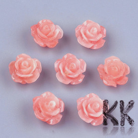 Synthetic coral rose - 10 x 10 x 6 mm