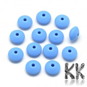 Food silicone beads - double cone - Ø 12 x 6 - 7 mm