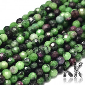 Natural ruby in zoisite cut - Ø 4 mm - balls