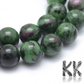 Natural ruby in zoisite - Ø 10 mm - balls