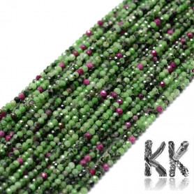 Natural ruby in zoisite cut - Ø 2 mm - balls
