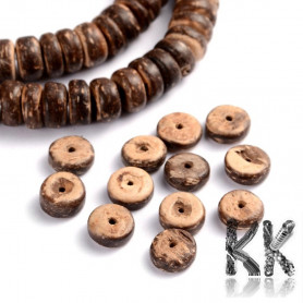 Coconut shell beads - roundels - 8 x 2.5 - 5 mm