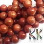 Tumbled round beads made of a synthetic mineral known as golden aventurine (orgoldstone or synthetic sunstone) with a diameter of 8 mm and a hole for a thread with a diameter of 1 mm. Country of origin: China THE PRICE IS FOR 1 PCS.