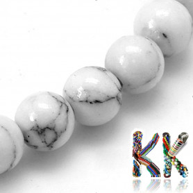 Synthetic howlite beads - ball - ∅ 8 mm