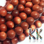 Tumbled round beads made of a synthetic mineral known as golden aventurine (orgoldstone or synthetic sunstone) with a diameter of 6 mm and a hole for a thread with a diameter of 1 mm. Country of origin: China THE PRICE IS FOR 1 PCS.