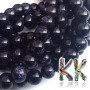 Tumbled round beads made of a synthetic mineral known as golden aventurine (or goldstone or synthetic sunstone) in a dark blue shade with a diameter of 6 mm and a hole for a thread with a diameter of 1 mm. Country of origin: China THE PRICE IS FOR 1 PCS.