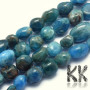 Tumbled beads in the shape of nuggets made of natural mineral apatite with a diameter of 6-8 mm with a hole for a thread with a diameter of 0.8 mm. The beads are completely natural without any dyeing. THE PRICE IS FOR 1 PCS.