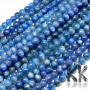 Tumbled round beadsmade of kyanite mineral with a diameter of 6 mm with a hole for a thread with a diameter of 1 mm. The beads are completely natural without any dyeing. THE PRICE IS FOR 1 PCS.