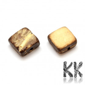 Coconut shell beads - cube - 6 - 7 x 6 - 7 x 3 - 5 x 1 mm - weight 1 g (approx. 5-7 pcs)