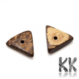 Coconut shell beads - triangle - 13 - 15 x 13.5 - 16 x 4 - 5 mm - weight 1 g (approx. 2-3 pcs)