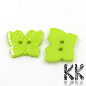 Acrylic buttons - butterfly - 18 x 15 x 2 mm - random mix of colors - quantity 10 g (approx. 19 pcs)