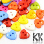 Classic opaque buttons made of colored acrylic material in the shape of a heart with dimensions of 14 x 14 x 3 mm and with holes for a thread with a diameter of 1 mm. Note - The beads are offered in packs of 10 grams and the color composition of each pack is purely random. The color composition in the illustration is so purely indicative. THE PRICE IS 10 g (approx. 25 pcs)