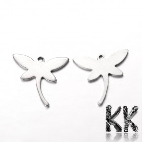 Pendant made of 304 stainless steel - dragonfly - 18 x 18.5 x 1 mm