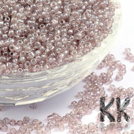 Chinese seed beads - transparent with pearlescent luster - 12/0 - weight 1 g