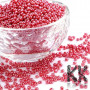 Chinese seed beads made of opaque colored glass with a pearlescent sheen in size 12/0 (approx. 2 mm) with a hole for a thread with a size of 1 mm. 1 g contains +/- 60 pieces of seed beads THE MENTIONED PRICE IS FOR 1 g (minimum amount order is 20 g).