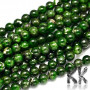 Tumbled round beads made of natural diopside with a diameter of 6 mm with a hole for a thread with a diameter of 1 mm. The beads are absolutely natural without any dye. Country of origin: Brazil THE PRICE IS FOR 1 PCS.