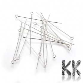 304 Stainless steel looping needle - 50 mm - quantity 1 g (approx. 7 - 8 pcs)